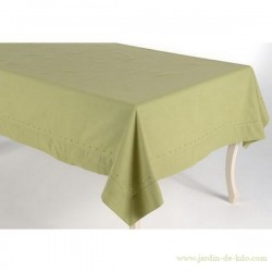Nappe verte classique carrée 150 x 150cm