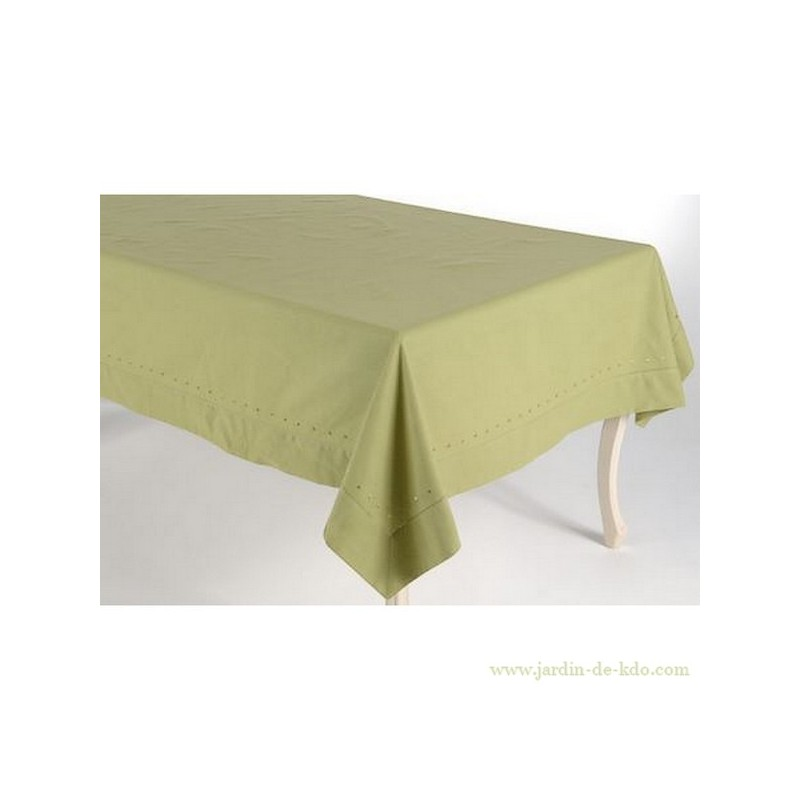 Nappe verte 150 x 150cm for Table carree 150 x 150