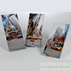 Toiles triptyques Taxi City