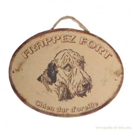 """Plaque """"Frappez fort"""""""