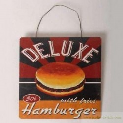 "Plaque ""Hamburger 50 cts"""
