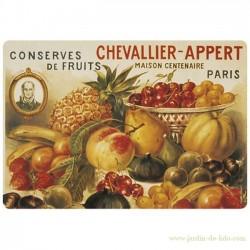 """Set de table """"Conserves de fruits – Chevallier Appert"""""""
