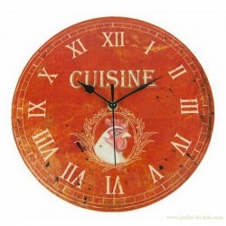 "Pendule cuisine ""Coq"" 25 cm"