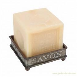 Porte-savon zinc carré