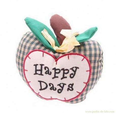 """Presse-Papier Pomme Carreaux """"Happy Days"""""""