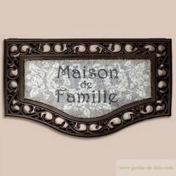 """Paillasson """"Maison de famille"""""""