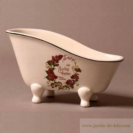 Porte-savon baignoire Fleurs Héliotrope