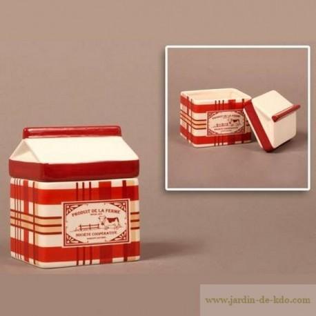 Pot et couvercle brick de lait Produit de la Ferme Coopérative