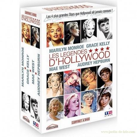 4 DVD Légendes d'Hollywood actrices Monroe Kelly West Hepburn