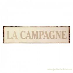 """Plaque """"La Campagne"""""""