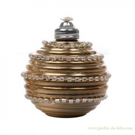 Lampe à huile boule dorée or Jline