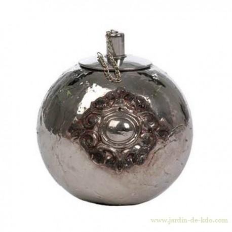 Lampe à huile boule argentée Jline Jolipa