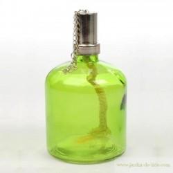Lampe à huile en verre vert Jline