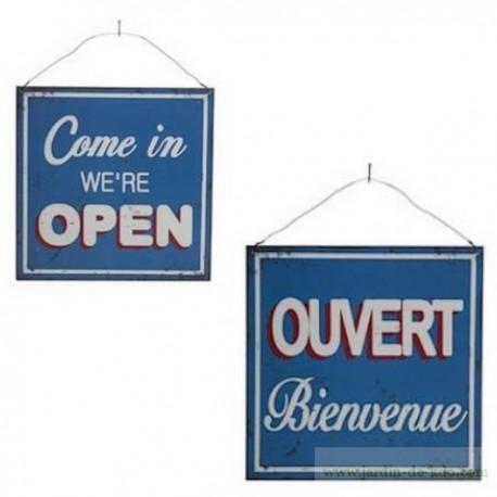 Plaque Ouvert Open Recto-Verso