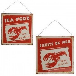 "Plaque ""Fruits de Mer - Sea Food"""