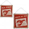 """Plaque """"Fruits de Mer - Sea Food"""""""