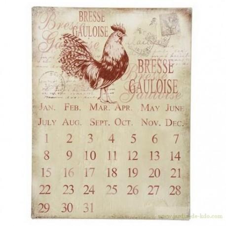 Calendrier perpétuel bresse gauloise poule