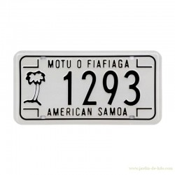 "Plaque immatriculation ""American Samoa"""