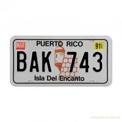 """Plaque métal """"Puerto Rico - Isla Del Encanto"""""""