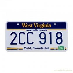 Plaque métal américaine West Virginia Wild Wonderful callwva