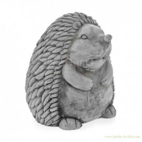 Statue figurine hérisson debout en ciment