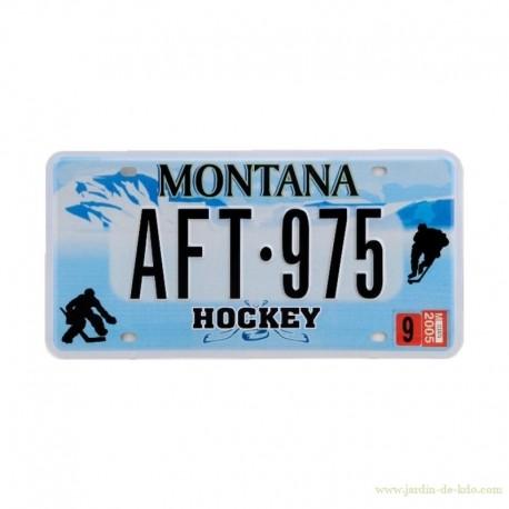 Plaque immatriculation US Montana Hockey Sport