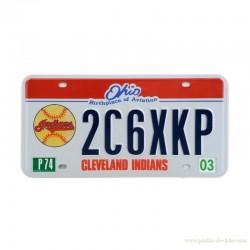 Plaque américaine Licence Plate Ohio Cleveland Indians