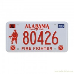 Plaque USA Alabama Fire Fighter Pompier Heart Of Dixie