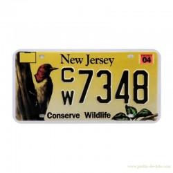 Plaque automobile amérique New Jersey Conserve Wildlife