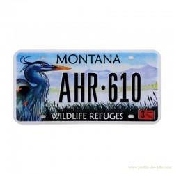 Plaque reproduite de plaque USA Montana Wildlife Refuges