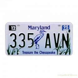 Plaque Maryland Treasure the Chesapeake Reproduction US Car