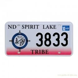 Plaque auto North Dakota Spirit Lake Tribe deux couleurs