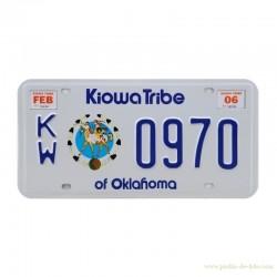 Plaque amérindienne USA voiture Kiowa Tribe Of Oklahoma