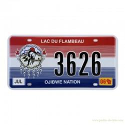 Plaque américaine indienne Lac du Flambeau Ojibwe Nation
