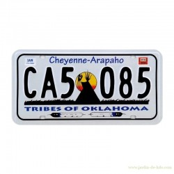 Plaque immatriculation américaine licence plate Cheyenne-Arapaho Tribes Of Oklahoma Indiens