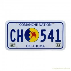 Plaque américaine immatriculation embossé Comanche Nation Oklahoma