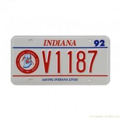 Plaque minéralogique américaine Indiana Firemen's