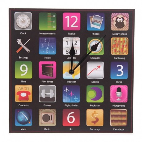 Horloge applications téléphone design