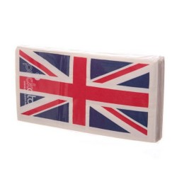 "Lot de serviettes en papier ""Union Jack"""