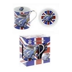 Mug et soucoupe Mini UK Bleue