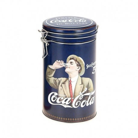 Boite à café bleue Coca-Cola