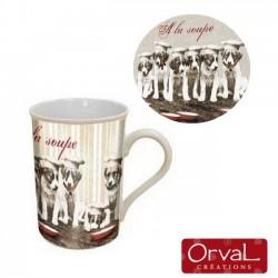 Mug chiens à la soupe Orval Créations