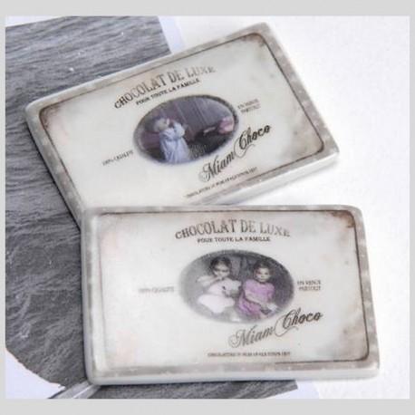 Duo de magnets Miam Chocolat De Luxe