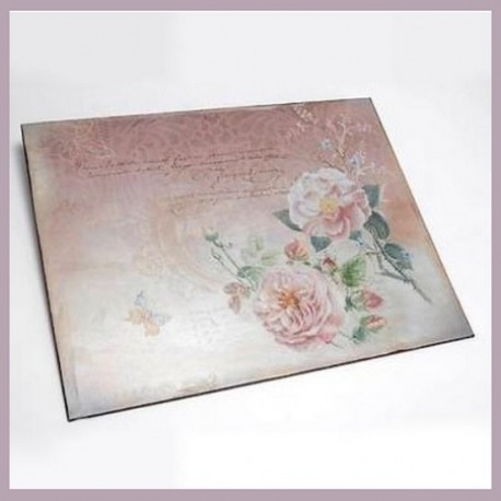 Plaque murale Roses et Poème