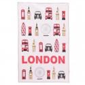 """Torchon """"Symboles de Londres"""""""