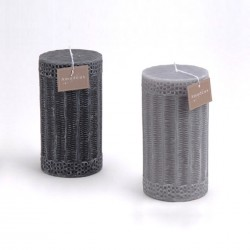 Duo de bougies grises