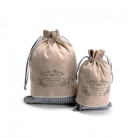 Set sacs à linge laverie mimosa