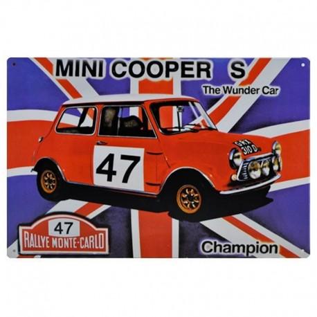 Plaque Mini Cooper S Rallye Monte-Carlo