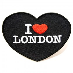 Badge patch coeur I Love London à poser au fer