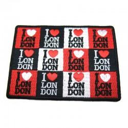Badge écusson en tissu I Love London à poser